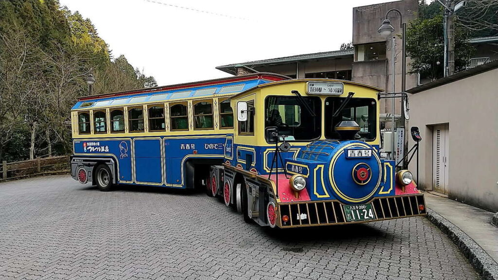 武蔵五日市駅行きの珍しいトレーラーバス「青春号」
