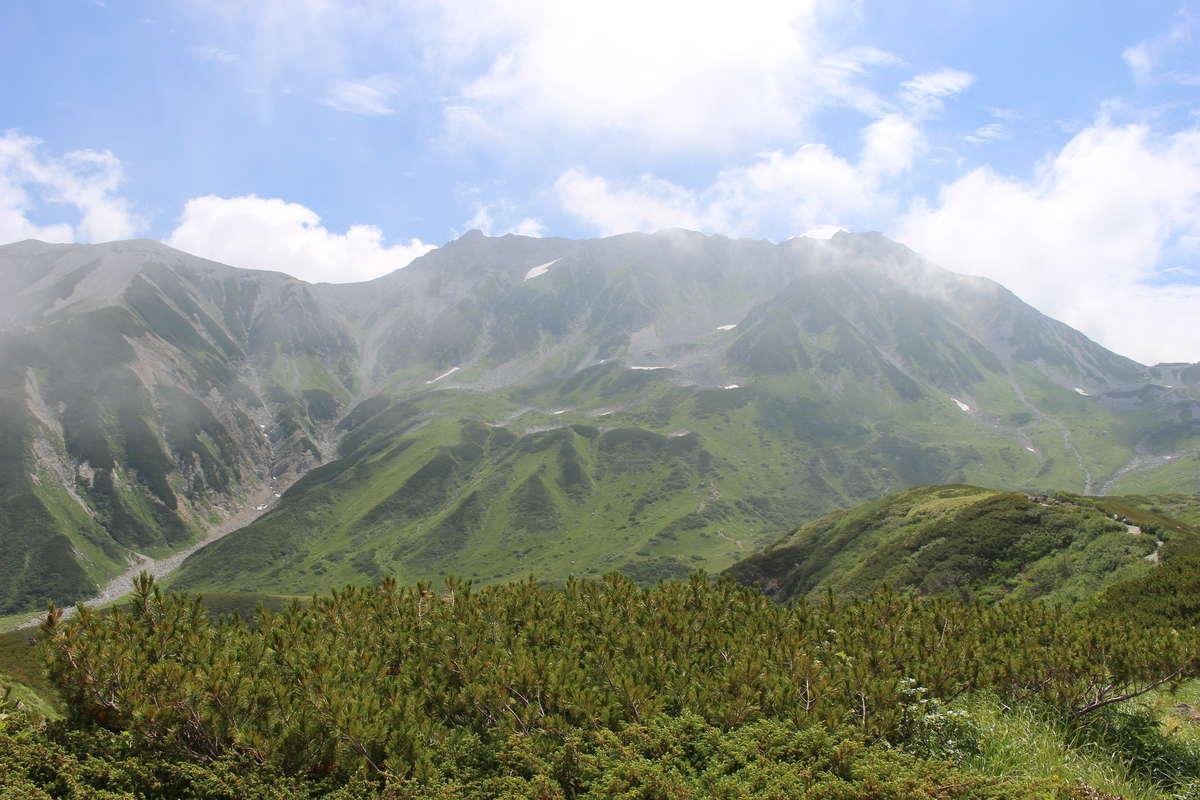 ミクリガ池付近から見た「立山三山」