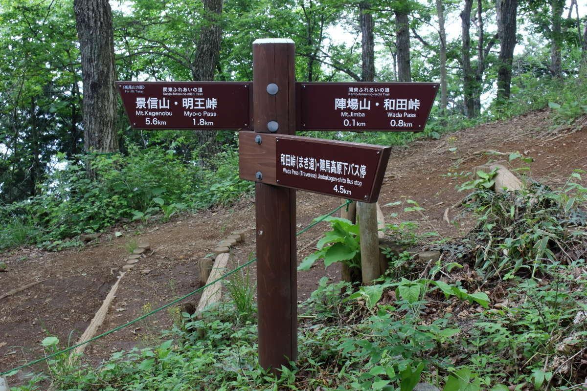 陣馬山から景信山までは5.7km!