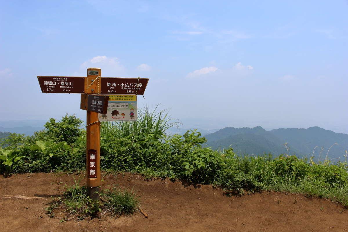 景信山から高尾山へは4.4km