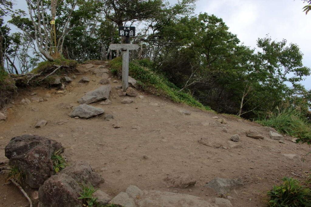 駒ヶ岳山頂は狭い広場になっています