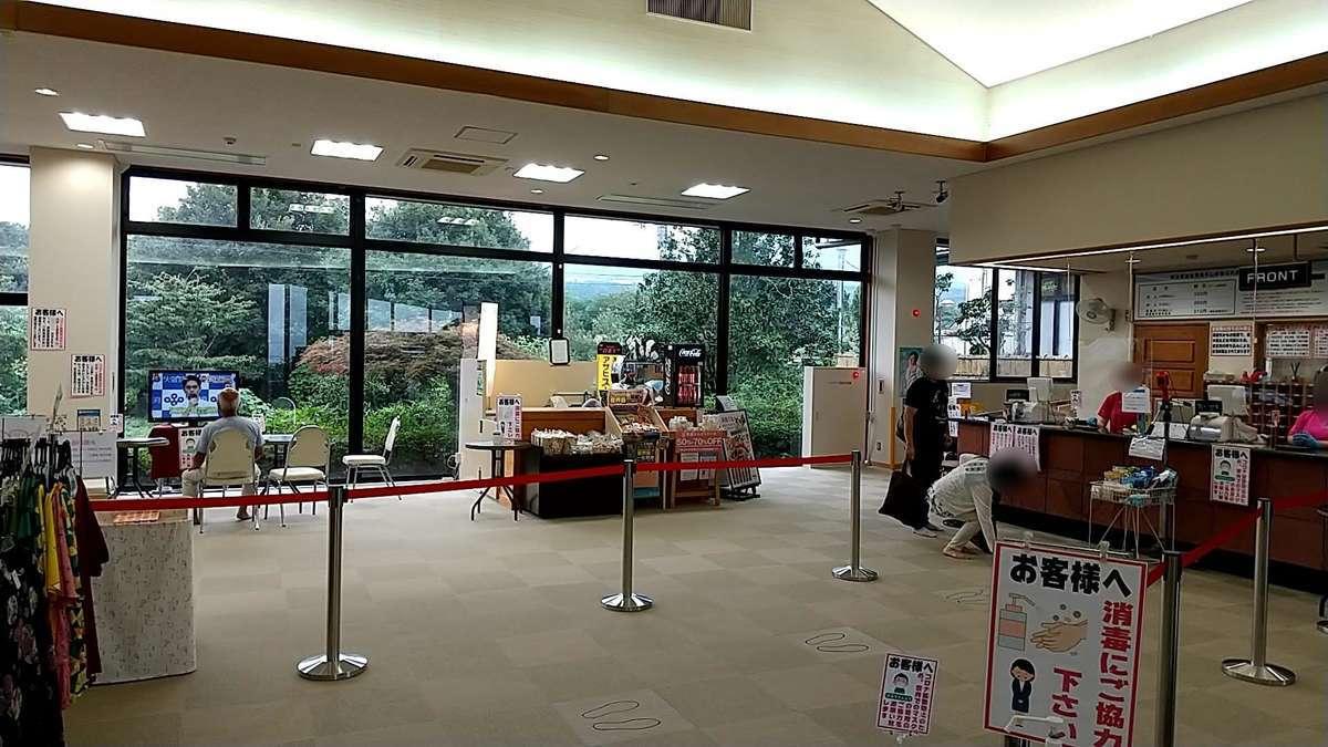 富士見温泉「見晴らしの湯ふれあい館」ロビー