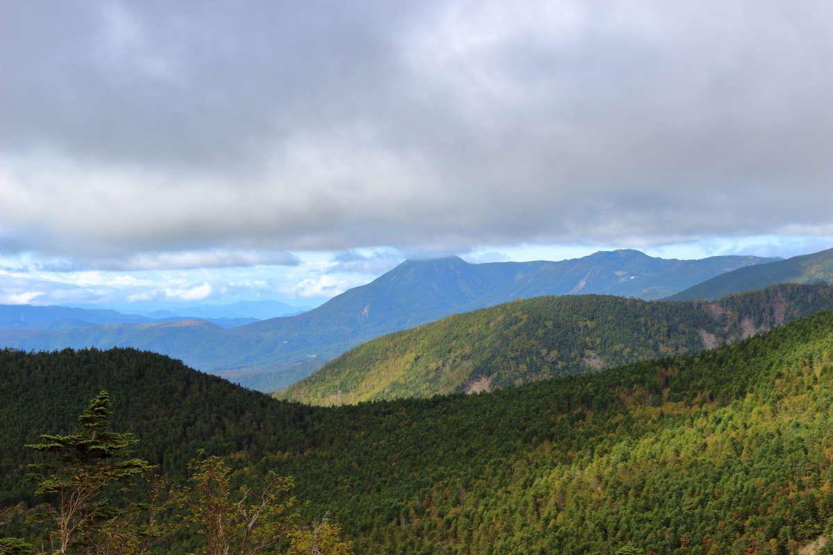 八ヶ岳北端の蓼科山と北横岳もみえました